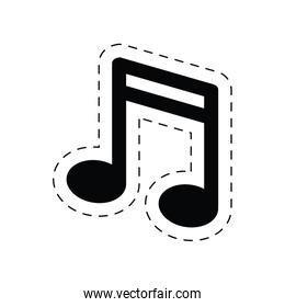 note music sound melody pictogram