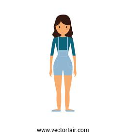 people casual woman cloth icon