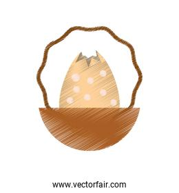 egg easter inside basket icon