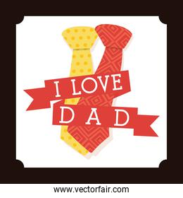 Father day card icon