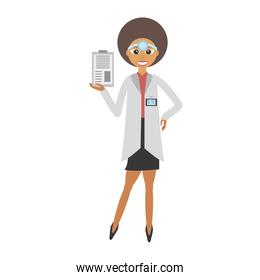 doctor female with clip and headmirror