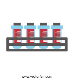 blood test tube sample with rack