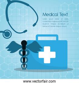 medical first aid kit stethoscope