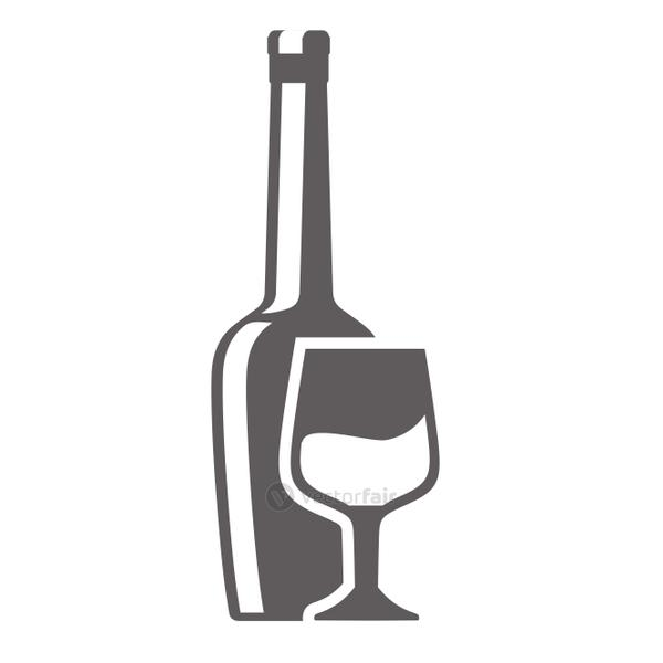glass bottle and cup pictogram