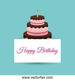 happy birthday cake card party event