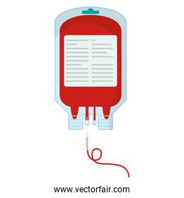 isolated blood donation bag plastic
