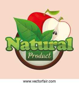 apple natural product fruit poster