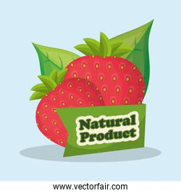 strawberry natural product market design