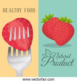 strawberry healthy food natural product