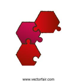 red puzzle pieces image