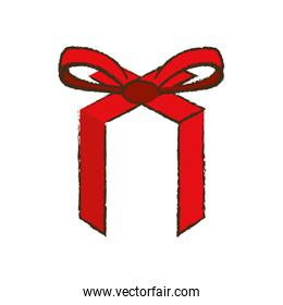 merry christmas red ribbon bow image