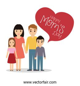happy moms day - family together celebration