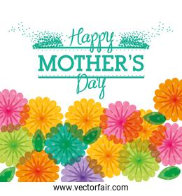 happy mothers day greeting flower transparent colored