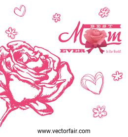 happy moms day - best mom ever in the world card