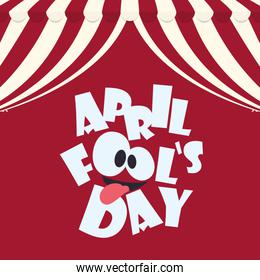 april fools day typographical red background