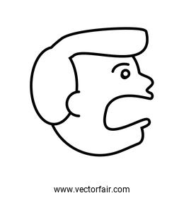 face guy angry outline