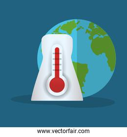 thermometer globe weather hot