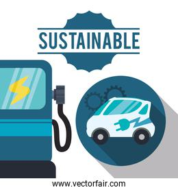 sustainable car gas ecology