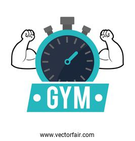 gym chronometer strong poster
