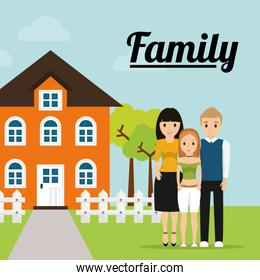 family home tree fence image