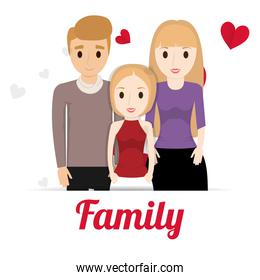 lovely family poster together