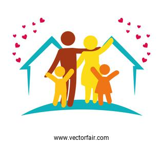 lovely family together home