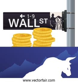 wall street new york bull wealth