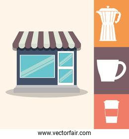 coffee shop poster paper cup maker equipment