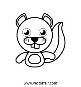 beaver animal toy outline