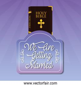 we are greeting married bible