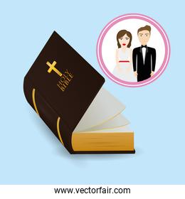get married couple bible card image
