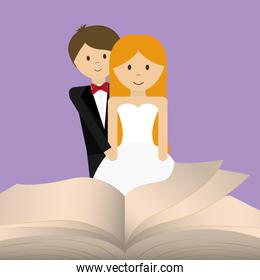 get married couple bible card