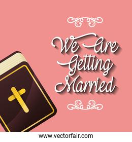 we are greeting married religious bible card