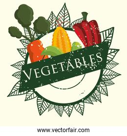 vegetables fresh agriculture product poster