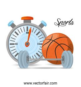 chronometer to play basketball and weight sport