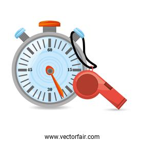 chronometer and whistle to competition training game