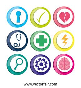 healthy icons to care mentality human
