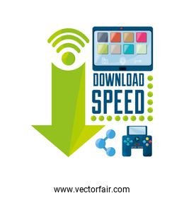 set icon related with internet and download files