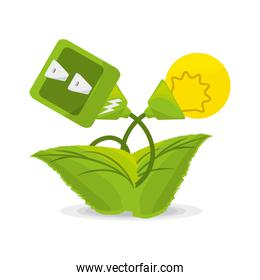 plant related with alternative energy for save the planet