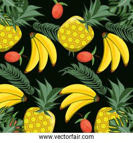concept related with tropical fruits pattern