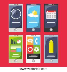 smartphone with different electronic tools