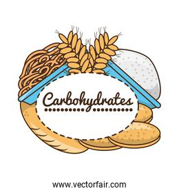 delicious healthy food with nutrition ingredients