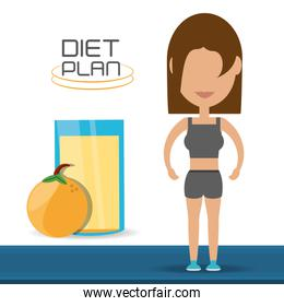 woman with healthy listyle to diet plan