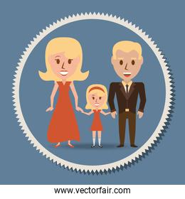 retro family parents with their daughter