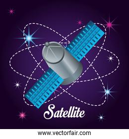 technology satellite in the galaxy atmosphere