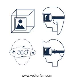 virtual reality game with futuristic technology innovation