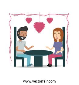 couple lover and romantic relationship with hearts