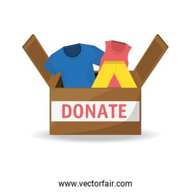 clothes donation support to charity of the people