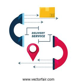 telephone call to delivery package service