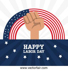 hand symbol to labor day celebration